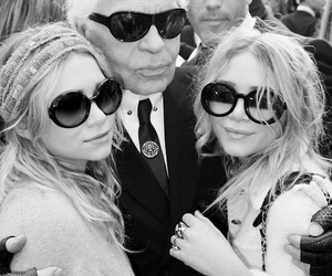 fashion, karl lagerfeld, and ashley olsen image