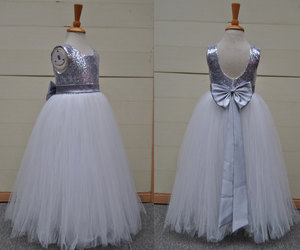 etsy, silver sequins, and sequins dress image