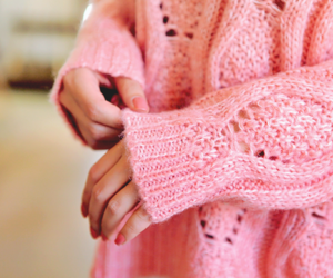 luxury, pink, and sweater image