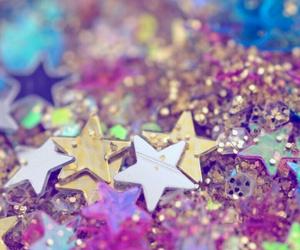 glitter, stars, and wallpaper image