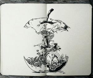 art, apple, and draw image