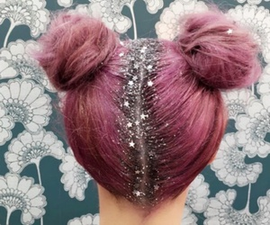hair, pink, and glitter image