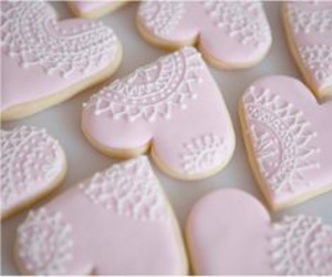 food, Cookies, and pink image