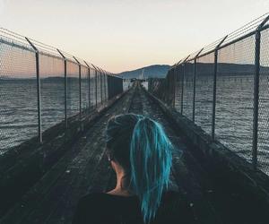 girl, hair, and sea image