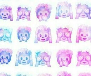 emoji, monkey, and wallpaper image