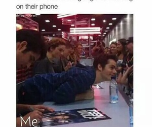 funny, dylan o'brien, and phone image