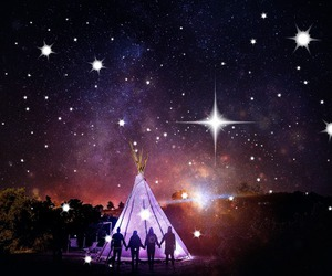 camping, Dream, and galaxy image