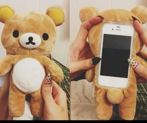 bear, phone cases, and brown image