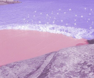 pink, pastel, and beach image
