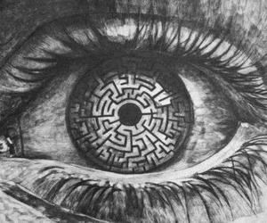 eye, eyes, and maze image