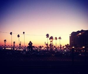 beach, california, and sunset image