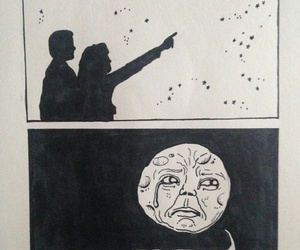 moon, funny, and art image