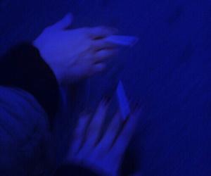 blue, smoke, and cigarette image