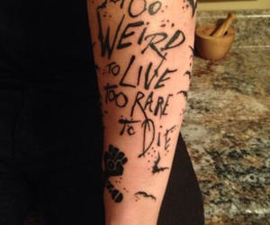 ink, panic at the disco, and tattoo image