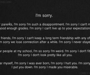 sorry, sad, and depressed image