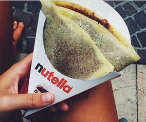 food, yummy, and nutella image