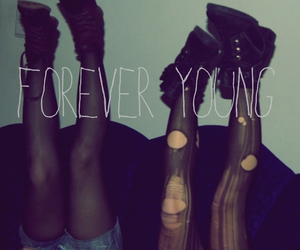 Forever Young, shoes, and legs image