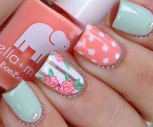 nails, pink, and rose image