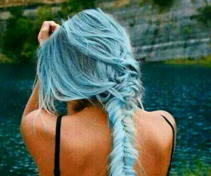 beautiful place, blue hair, and cute hair image