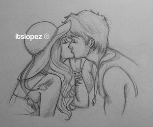 kiss, art, and boy image
