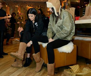 kendall jenner, kylie jenner, and boots image