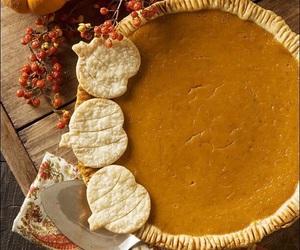 autumn, pumpkin, and pie image