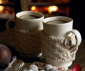 winter, coffee, and christmas image