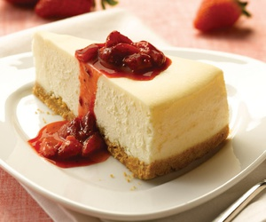 cake, cheese, and cheesecake image