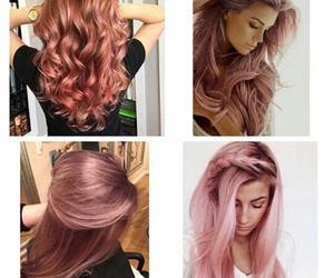 color, hair, and rose image