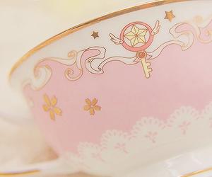 cup, tea, and sakura card captor image