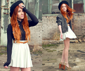 fashion, hat, and red hair image