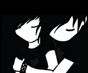 love, emo, and couple image