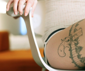 tattoo, gun, and sexy image