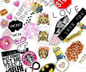 girls, girly, and emojis image
