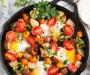 food, egg, and potato image