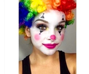 funny, girl, and clown image