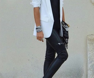 black and white, chic, and edgy image