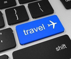 travel, world, and keyboard image