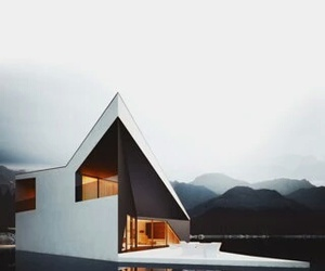 black, house, and water image