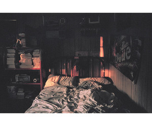 beautiful, bed room, and dark image