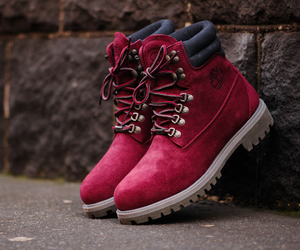 timberland, red, and boots image