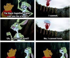 funny, pooh, and piglet image