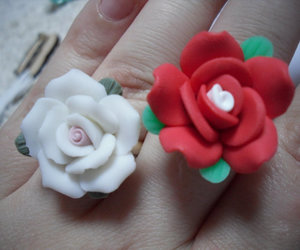 etsy, fimo, and roses image