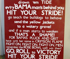 alabama, football, and roll tide image