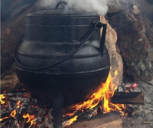 cauldron, witch, and witchcraft image