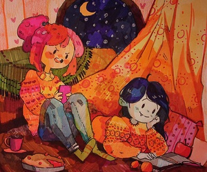 books, winter, and adventure time image