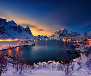 norway, beauty, and lake image