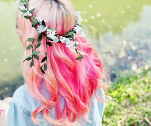 'grunge', 'hair', and 'flowers' image