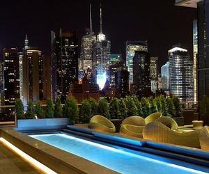 pool, luxury, and city image