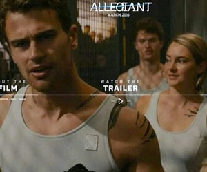 Shailene Woodley, tobias, and theo james image